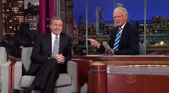 Brian Williams and David Letterman