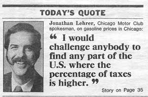 This is still true! (Chicago Sun-Times, May 5, 1991)